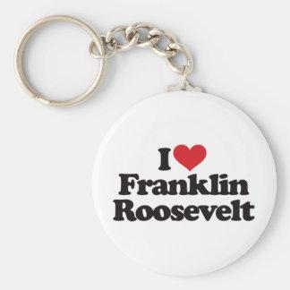 I Love Franklin Roosevelt Basic Round Button Keychain