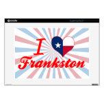 """I Love Frankston, Texas 15"""" Laptop Decal"""