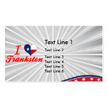I Love Frankston, Texas Double-Sided Standard Business Cards (Pack Of 100)