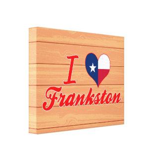 I Love Frankston Texas Canvas Print