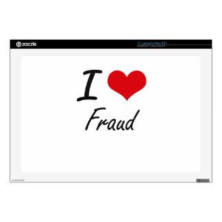 I love Fraud Laptop Decal