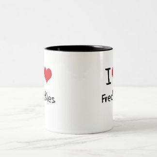 I Love Freckles Mug
