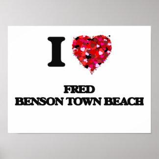 I love Fred Benson Town Beach Rhode Island Poster