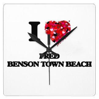 I love Fred Benson Town Beach Rhode Island Square Wallclocks