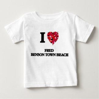 I love Fred Benson Town Beach Rhode Island Tee Shirts