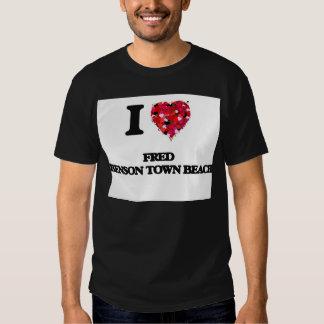 I love Fred Benson Town Beach Rhode Island Tshirt