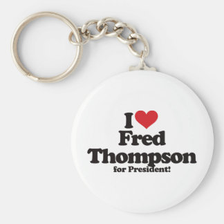I Love Fred Thompson for President Basic Round Button Keychain