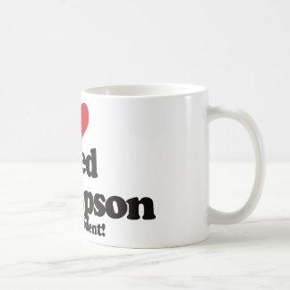 I Love Fred Thompson for President Classic White Coffee Mug
