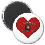 I Love Frederic Chopin 2 Inch Round Magnet