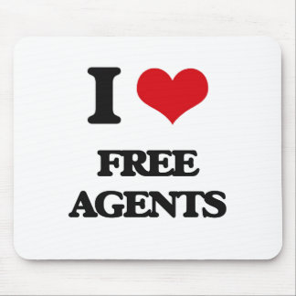 i LOVE fREE aGENTS Mouse Pad