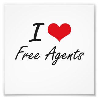 I love Free Agents Photo Print