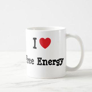 I love Free Energy heart custom personalized Coffee Mug