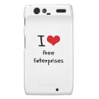 I Love Free Enterprises Motorola Droid RAZR Cover