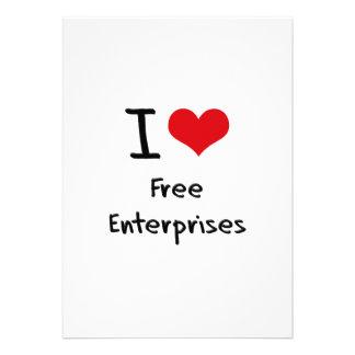 I Love Free Enterprises Invites