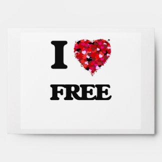 I Love Free Envelope