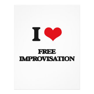 I Love FREE IMPROVISATION Personalized Flyer