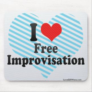 I Love Free+Improvisation Mouse Pad