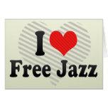 I Love Free Jazz Cards