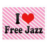 I Love Free Jazz Postcard