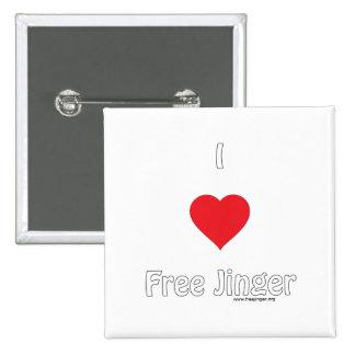 I love Free Jinger Button