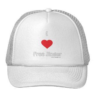 I love Free Jinger Trucker Hat