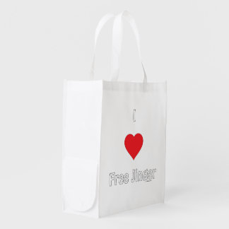 I Love Free Jinger Grocery Bags