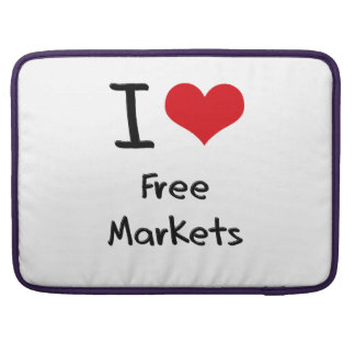 I Love Free Markets Sleeves For MacBook Pro