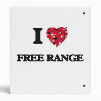 I Love Free Range Vinyl Binder
