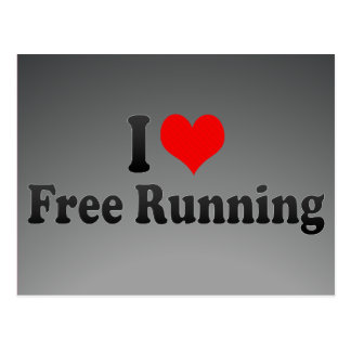 I love Free Running Postcard