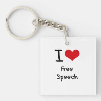 I Love Free Speech Key Chain