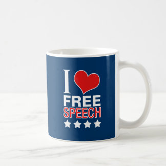 I love free speech mug
