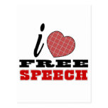 I Love Free Speech Postcard