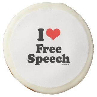 I LOVE FREE SPEECH SUGAR COOKIE