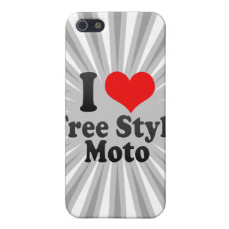 I love Free Style Moto Case For iPhone 5