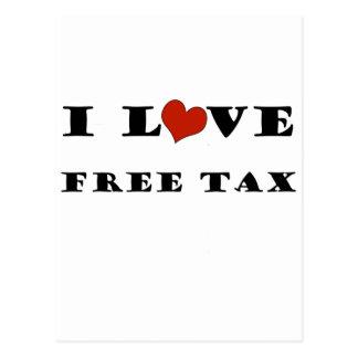 I Love Free Tax Postcard