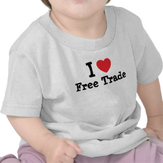 I love Free Trade heart custom personalized T Shirt