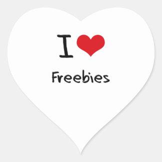 I Love Freebies Stickers