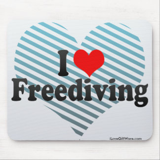 I Love Freediving Mouse Pad