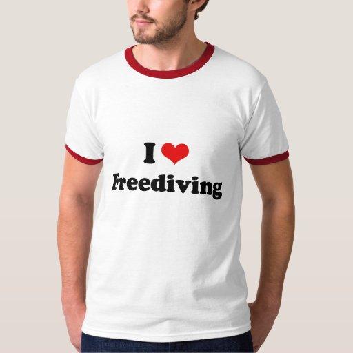 I LOVE FREEDIVING SHIRTS