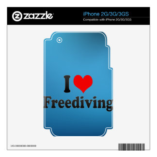 I love Freediving Decal For iPhone 2G