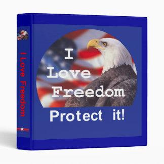 I LOVE FREEDOM Avery Binder