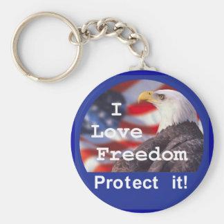 I LOVE FREEDOM Keychain