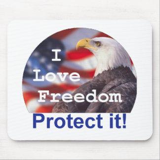 I LOVE FREEDOM Mousepad