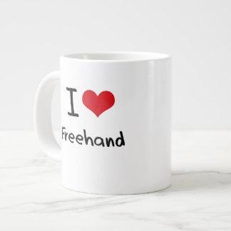 I Love Freehand Jumbo Mugs