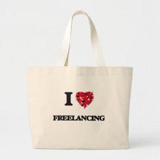 I Love Freelancing Jumbo Tote Bag