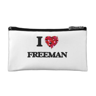 I Love Freeman Cosmetics Bags