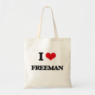 I Love Freeman Budget Tote Bag