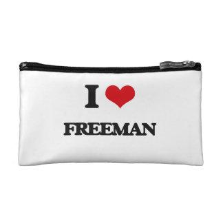 I Love Freeman Cosmetic Bags