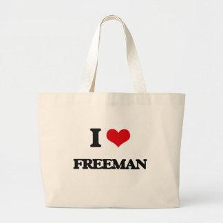 I Love Freeman Jumbo Tote Bag