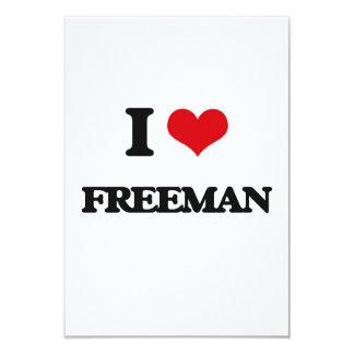 I Love Freeman 3.5x5 Paper Invitation Card